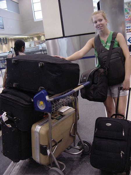 gab has some luggage