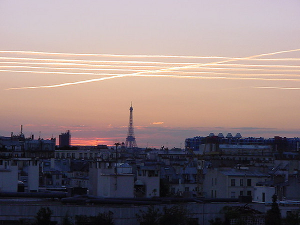 crisscross sky