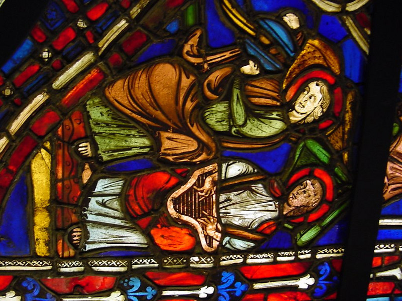 more musicians in stained glass