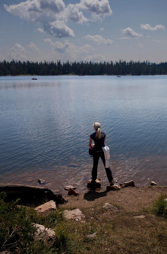 Fishing in Mirror Lake