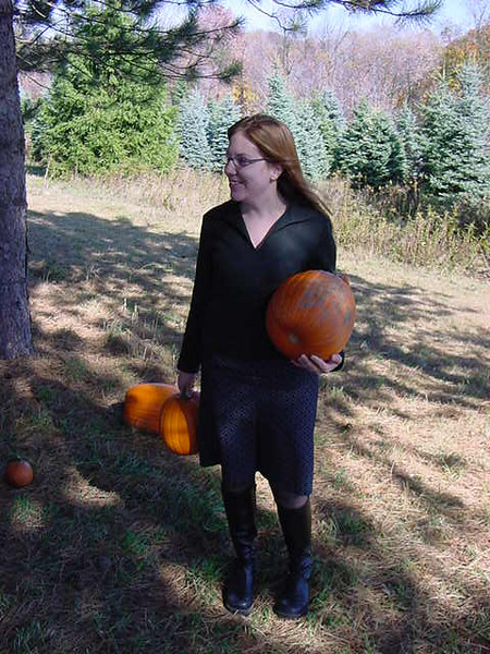 me in the pumpkin patch