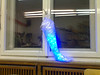 blue glowy leg at @dingfabrik