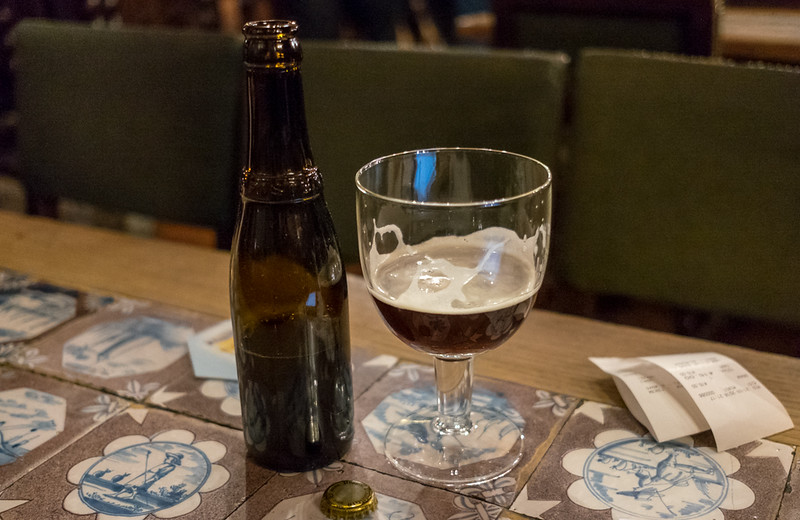 21 March 2018: the Holy Grail of beer, the elusive Westvleteren, at Au Bon Vieux Temps. Make sure you bring cash--a bottle costs €15 and the temple does not take cards.