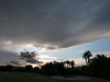 17 September 2016: sunset over our golf course. The clouds threatened but did not deliver.
