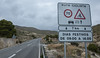 18 February 2018: a new sign on the road to Aigües, my most frequent cycling route.