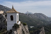 17 October 2016: view of the tower from the castle of Guadalest.