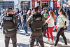 12 April 2018: a sign of the times--the Santa Faz pilgrimage attracts tens of thousands of people, and there is a heavy security presence, a sad necessity in this day and age.