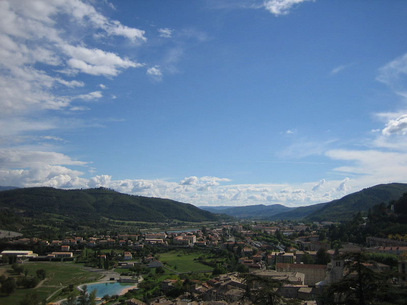 view of the village of sisteron