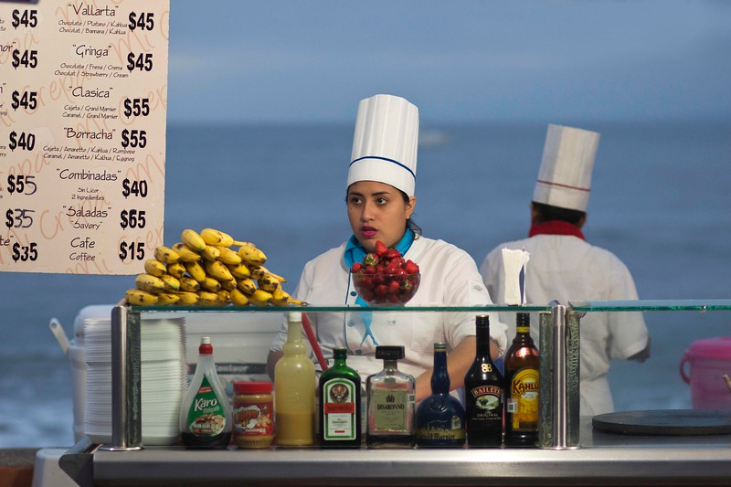Crepes on the Malecon