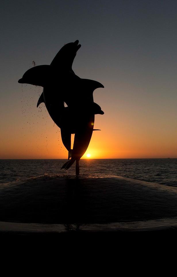 Dolphin Sculpture, Malecon