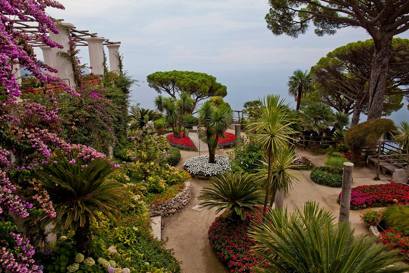"Villa Rufolo, Ravello.  Centuries ago, ""Villa"" referred to not only the housing of the wealthy but to the acres upon acres of beautifully landscaped grounds surrounding the estate."