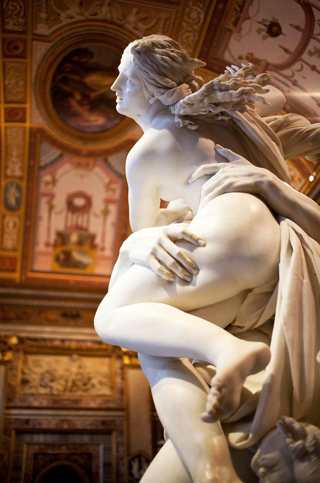 Bernini's Pluto and Proserpina. His Genius is Seen in the way he Sculpted the Indentations on Proserpina's Thigh.