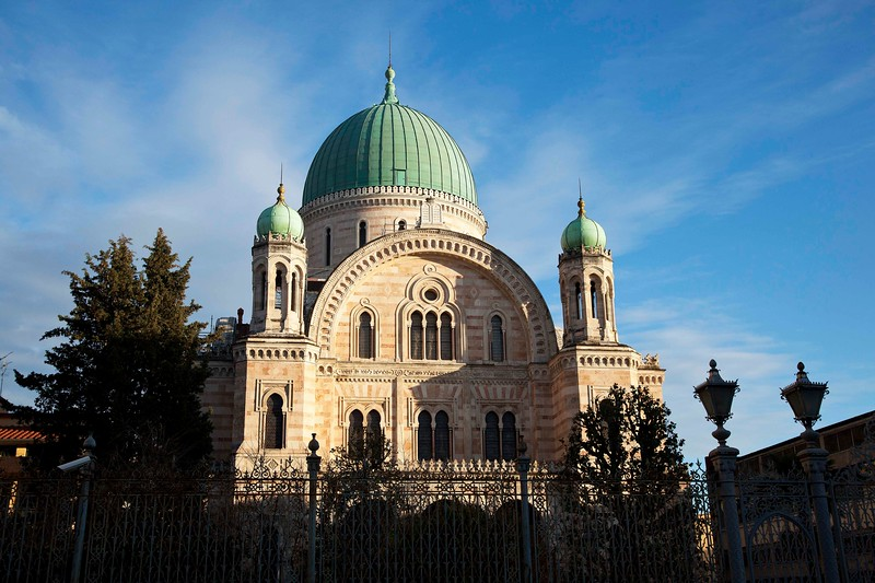 Tempio Maggiore, the Great Synagogue of Florence. Built in 1875