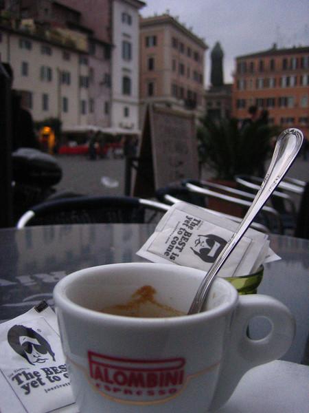espresso in the foreground