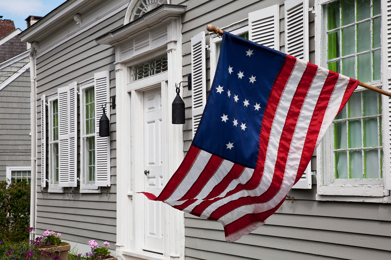 Captain John Hulpert 13 Colony American Flag, Sag Harbor