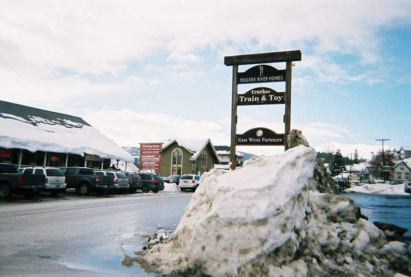 Jackass Ridge (Sign on Left) - Truckee