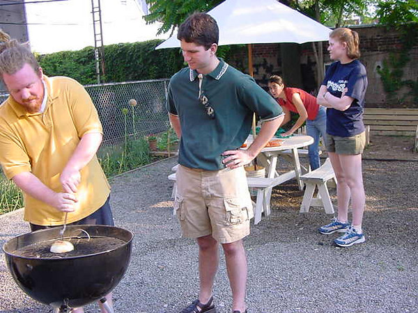 ryan and chris grill an onion