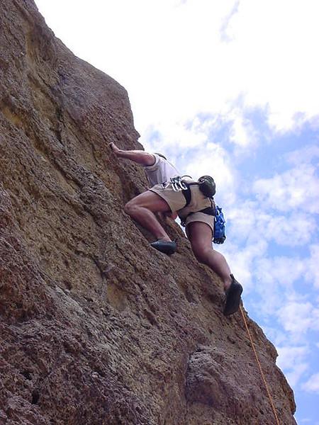 jesse lead climbs