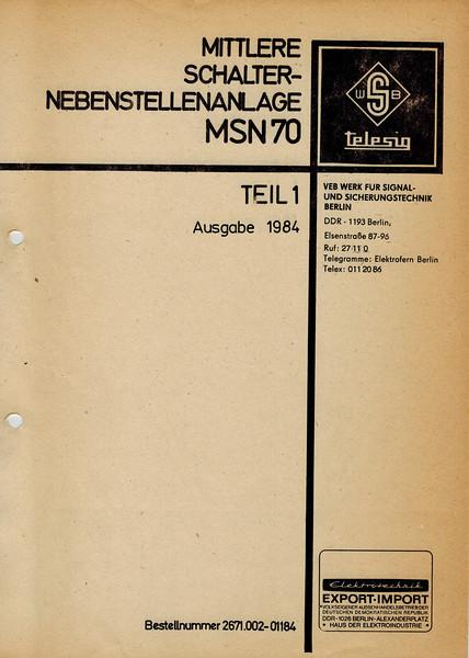 telephone switching standard