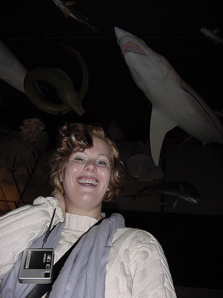 riss grins despite the sharks and eels