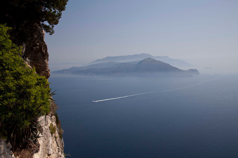 View of Mt. Vesuvius from Capri