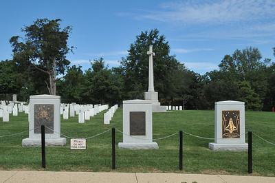 Challenger Memorial, Iran Hostage Rescue Memorial and Columbia Memorial