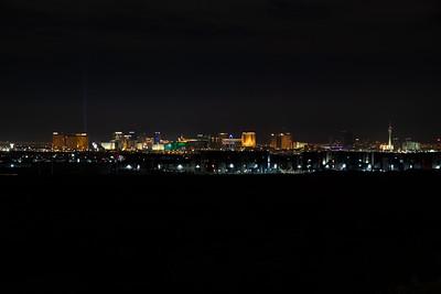 Las Vegas Strip from Vivaldi Park, Henderson, Nevada (9.5 miles away from High Roller)