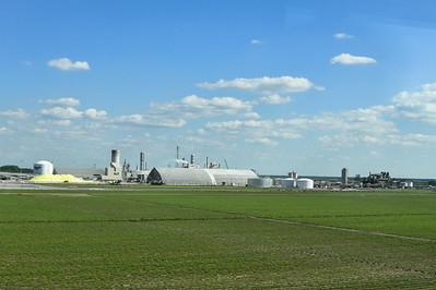 Sugar Cane Fields and Mosaic Faustina Ammonia Plant, St James, LA
