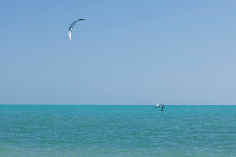 Kite Surfing on Long Bay Beach