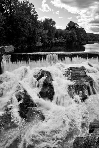 Dam on Ottauquechee River, Quechee, VT.