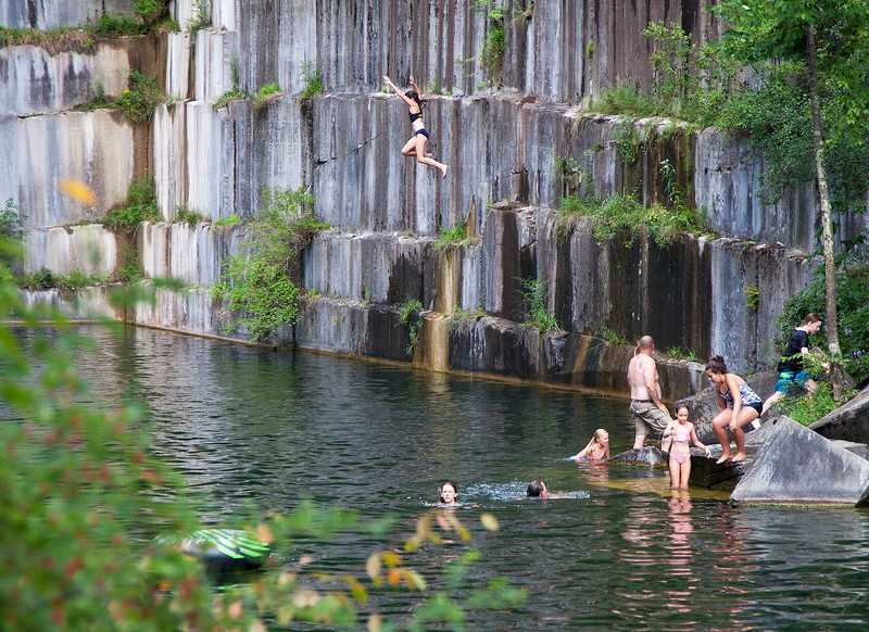 """Jumpin'"" in Oldest Quarry in America, Dorset"