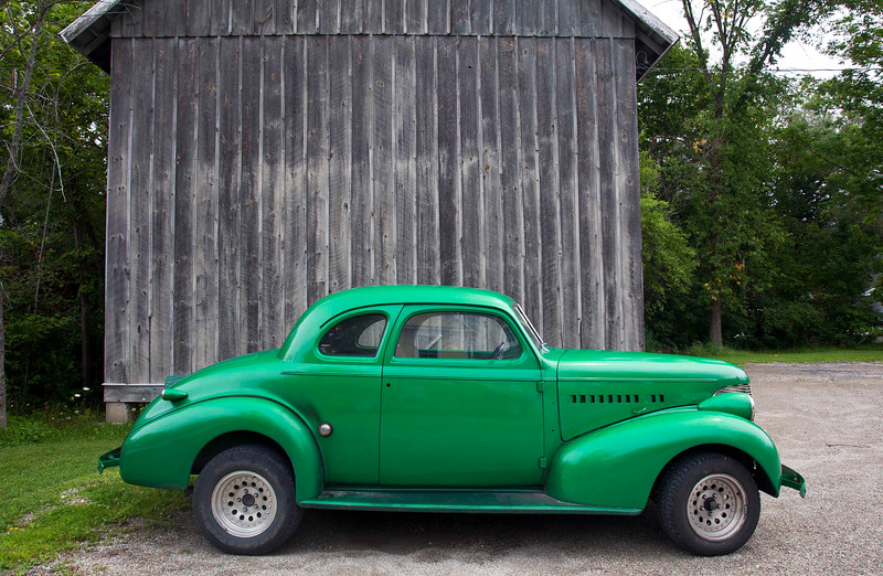 Classic Car, Vermont Green