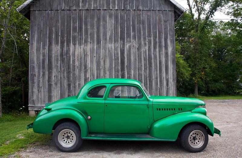 Classic Car, Vermont Green