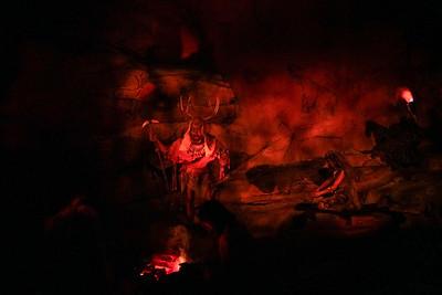 Spaceship Earth; Caveman Scene