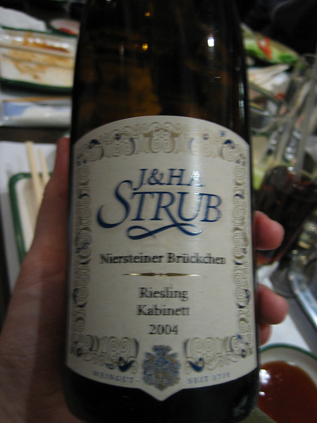 riesling we had. it was a fantastic riesling.
