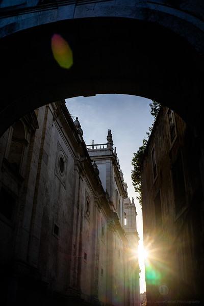 Flare through an Arch