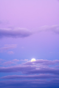 Full Moonrise at Blue Hour