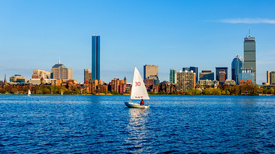 Sailboat on the Charles River