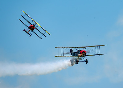 1918 Fokker DR.I Triplane and Sopwith Pup