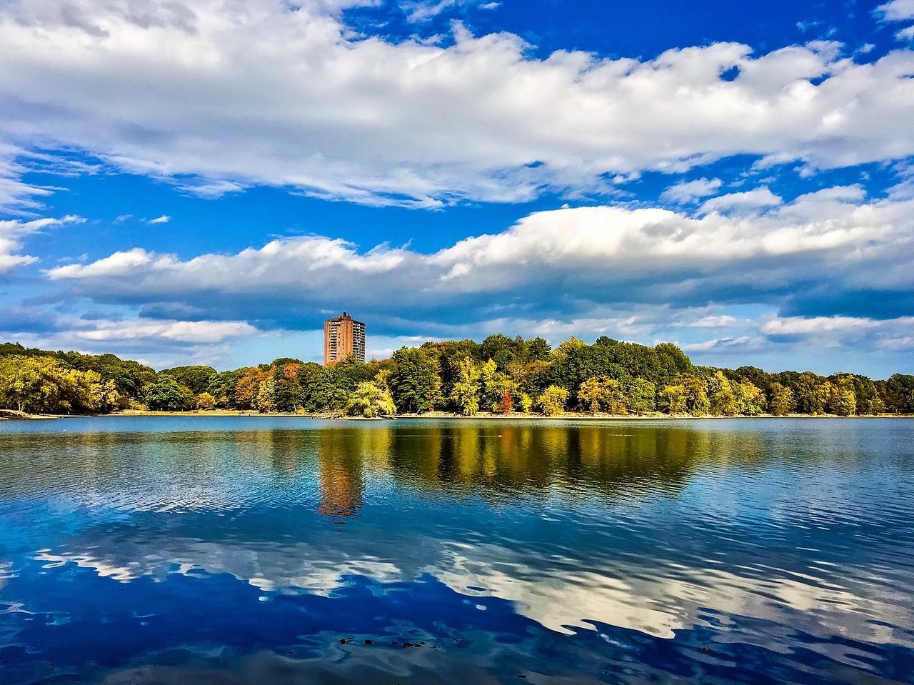 Jamaica Pond in the Jamaica Plain neighborhood of Boston, Massachusetts. Shot with iPhone 6s.