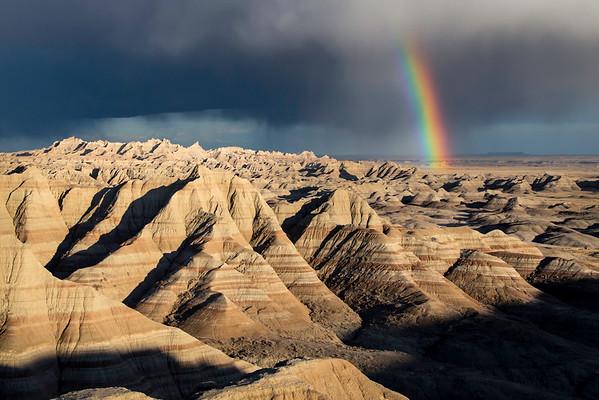 End of the storm, Badlands National Park