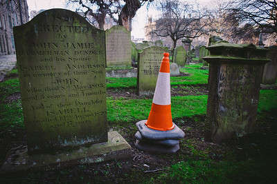Unconventional Headstone