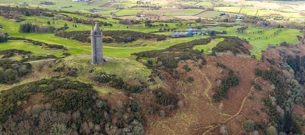 Scrabo Tower looking over Newtownards Northern Ireland