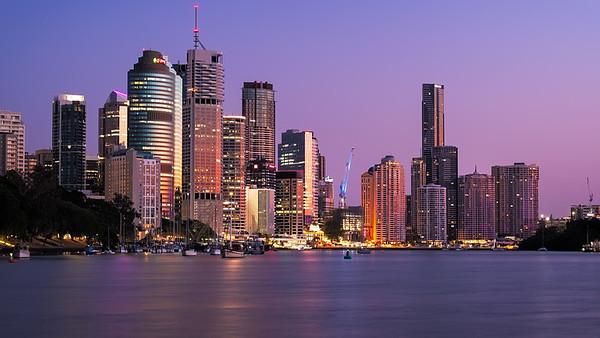 Brisbane CBD at Sunrise