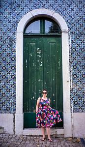 Green Door Portrait