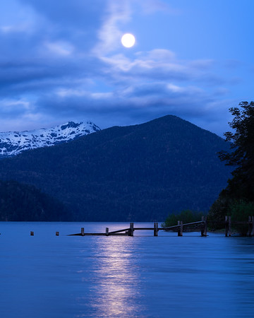 Moonset over Patagonia