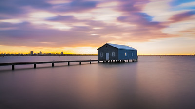 Blue Boatshed Sunrise Perth