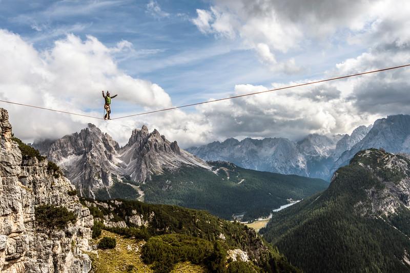 Dolomites slacklining