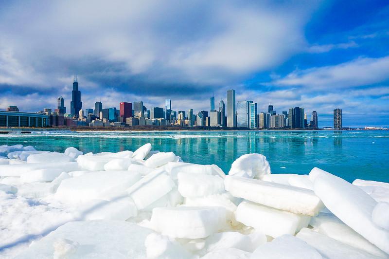 Icy Chicago Skyline 1