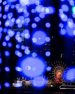 Luna Park through Purple Curtain